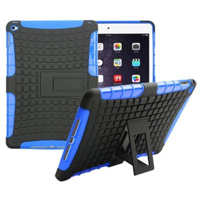 Stand Design TPU and PC Material Tire Pattern Protective Back Cover Case for iPad Air 2