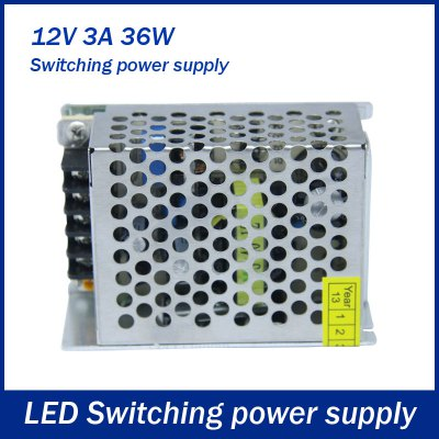 Switch Power Supply LED 36W DC 12V 3A Output Strip Lamp Switch