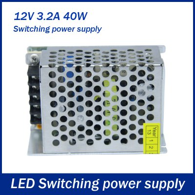 DC 12V 3.2A 40W Switching Power Supply Adapter for LED Ribbon Light
