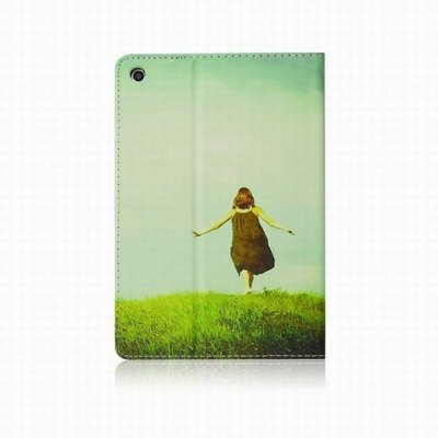 ФОТО Stand Design Girls Back Pattern Cover Case of PU and PC Material for iPad mini