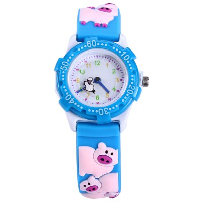 Pig Pattern Kids Quartz Watch Analog WristwatchKids Watches<br>Pig Pattern Kids Quartz Watch Analog Wristwatch<br><br>Watches categories: Children watch<br>Watch style: Lovely<br>Available Color: Blue<br>Movement type: Quartz watch<br>Shape of the dial: Round<br>Case material: Stainless steel<br>Band material: Rubber<br>Clasp type: Pin buckle<br>The dial thickness: 0.9 cm / 0.35 inches<br>The dial diameter: 3.0 cm / 1.18 inches<br>The band width: 1.5 cm / 0.59 inches<br>Product weight: 0.015 kg<br>Package weight: 0.065 kg<br>Product size (L x W x H) : 20.5 x 3 x 0.9 cm / 8.06 x 1.18 x 0.35 inches<br>Package size (L x W x H): 21.5 x 4 x 1.9 cm / 8.45 x 1.57 x 0.75 inches<br>Package contents: 1 x Watch