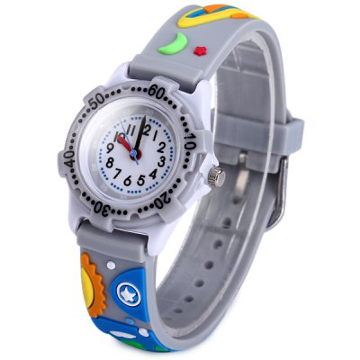 Outer Space Pattern Kids Quartz Watch