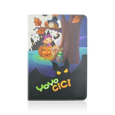 ФОТО Stand Design Halloween Element Pattern Cover Case of PU and PC Material for iPad mini