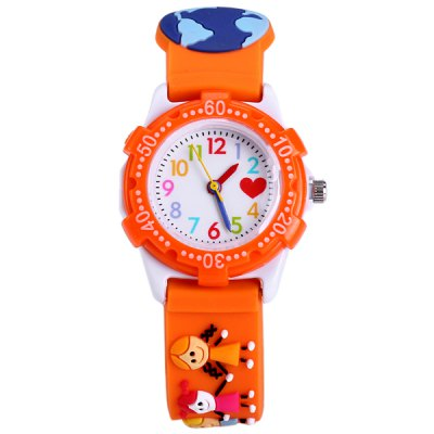 Children Litter Friends Quartz Watch Rubber Watch BandKids Watches<br>Children Litter Friends Quartz Watch Rubber Watch Band<br><br>Watches categories: Children watch<br>Watch style: Lovely<br>Available color: White, Orange<br>Movement type: Quartz watch<br>Shape of the dial: Round<br>Display type: Analog<br>Case material: Stainless steel<br>Band material: Rubber<br>Clasp type: Pin buckle<br>The dial thickness: 0.6 cm / 0.24 inches<br>The dial diameter: 2.5 cm / 0.94 inches<br>The band width: 1.4 cm / 0.55 inches<br>Product weight: 0.024 kg<br>Package weight: 0.074 kg<br>Product size (L x W x H) : 20.3 x 2.5 x 0.6 cm / 7.98 x 0.98 x 0.24 inches<br>Package size (L x W x H): 21.3 x 3.5 x 1.6 cm / 8.37 x 1.38 x 0.63 inches<br>Package contents: 1 x Watch