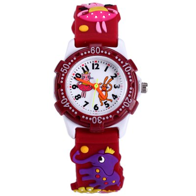Animal Pattern Kids Quartz Watch Analog WristwatchKids Watches<br>Animal Pattern Kids Quartz Watch Analog Wristwatch<br><br>Watches categories: Children watch<br>Watch style: Lovely<br>Available Color: Brown<br>Movement type: Quartz watch<br>Shape of the dial: Round<br>Case material: Stainless steel<br>Band material: Rubber<br>Clasp type: Pin buckle<br>The dial thickness: 0.9 cm / 0.35 inches<br>The dial diameter: 3.0 cm / 1.18 inches<br>The band width: 1.5 cm / 0.59 inches<br>Product weight: 0.015 kg<br>Package weight: 0.065 kg<br>Product size (L x W x H) : 20.5 x 3 x 0.9 cm / 8.06 x 1.18 x 0.35 inches<br>Package size (L x W x H): 21.5 x 4 x 1.9 cm / 8.45 x 1.57 x 0.75 inches<br>Package contents: 1 x Watch