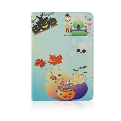 ФОТО Stand Design Halloween Element Pattern Cover Case of PU and PC Material for iPad Air