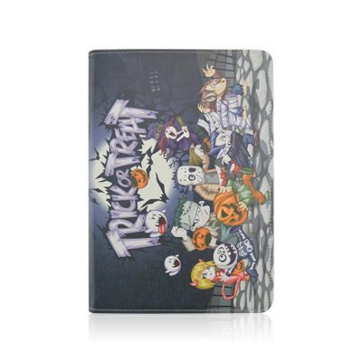 Stand Design Halloween Element Pattern Cover Case of PU and PC Material for iPad 3