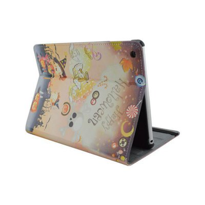 Фотография Stand Design Halloween Element Pattern Cover Case of PU and PC Material for iPad 3