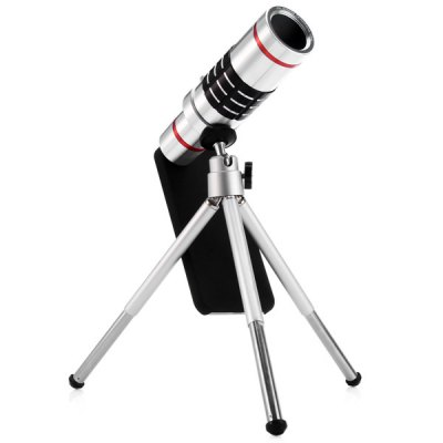 Фотография Practical 18x Optical Telescope Mobile Telephoto Lens with Tripod and Back Case for iPhone 5 5S