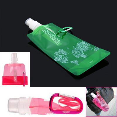 Foldable Water Bag with Carabiner