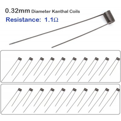 20pcss / Pack 0.32mm Diameter 1.1ohm Kanthal Resistance Wire RBA Coils