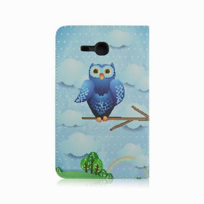 Фотография Owl Pattern Csae Back Cover with Stand PU Lether Body for Samsung Galaxy T110