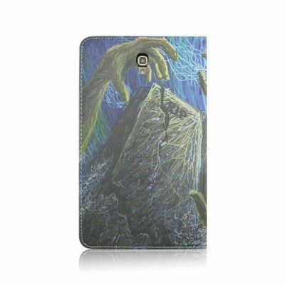 Фотография Halloween Pattern Back Cover PU Leather Case with Stand for Samsung Galaxy T700