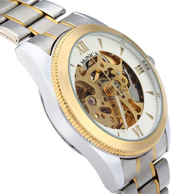 Фотография Monica 6873 Automatic Mechanical Watch Men Hollow - out Style Wristwatch