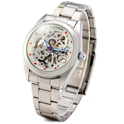 Фотография Monica 6865 Hollow Out Round Dial Male Automatic Mechanical Watch
