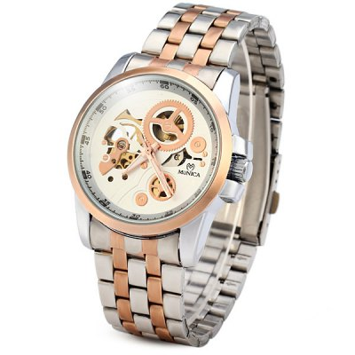 Фотография Monica 6866 Automatic Mechanical Watch Men Hollow - out Wristwatch