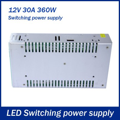 Фотография DC 12V 30A 360W Switching Power Supply Driver for LED Ribbon Light