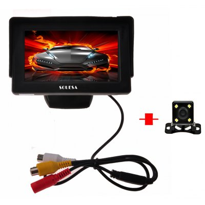 4 Leds 120 Degree Wide Angle Car Reverse Camera 4 3 Inch