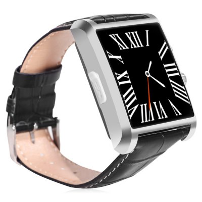 DM08 Multifunctional Bluetooth 4.0 Watch Smart WristwatchSmart Watches<br>DM08 Multifunctional Bluetooth 4.0 Watch Smart Wristwatch<br><br>Bluetooth version: Bluetooth 4.0<br>Waterproof: NO<br>Screen: TFT<br>Battery capacity: 360mAh<br>People: Unisex watch<br>Functions: Sleep monitoring, Dialing, Camera remote, Music player, Contacts synchronization, Pedometer, SMS reminding, Sedentary reminder<br>Shape of the dial: Rectangle<br>Case material: Metal<br>Band material: Leather<br>Language: English<br>Available color: Black, Brown, Silver<br>The dial thickness: 1.2 cm / 0.47 inches<br>The dial diameter: 4.3 cm / 1.69 inches<br>Product size (L x W x H) : 24 x 4.3 x 1.2 cm / 9.43 x 1.69 x 0.47 inches<br>Package size (L x W x H): 16.5 x 12 x 3 cm / 6.48 x 4.72 x 1.18 inches<br>Product weight: 0.062 kg<br>Package weight: 0.270 kg<br>Package contents: 1 x DM08 Smart Watch, 1 x Chinese and English Manual
