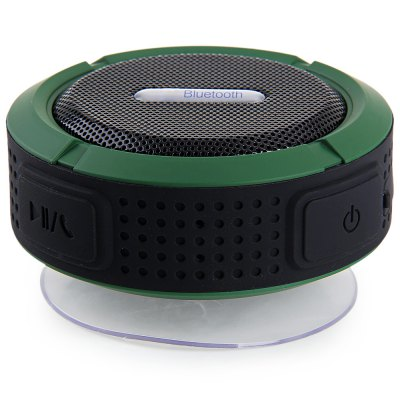 C6 Bluetooth 3.0 IP65 Water Resistant Handsfree Stereo Suction Speaker