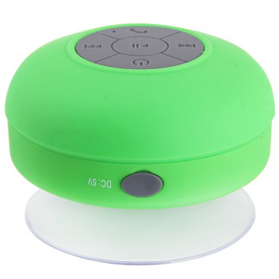 ФОТО BTS  -  06 Bluetooth 3.0 Water Resistant Handsfree Stereo Suction Speaker with Voice Control Mic
