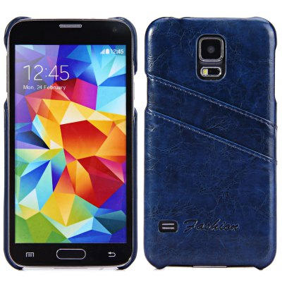PU Material Back Cover Case for Samsung Galaxy S5 i9600 SM-G900