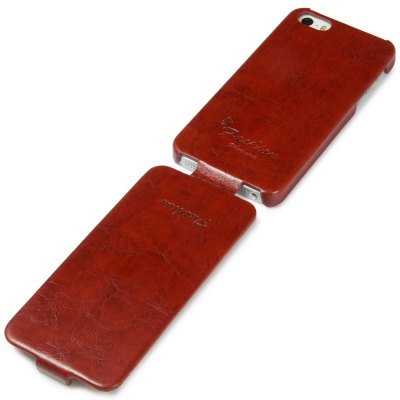 ФОТО Vertiacal Flip Phone Protective Cover Case with PU Leather PC Material for iPhone 5