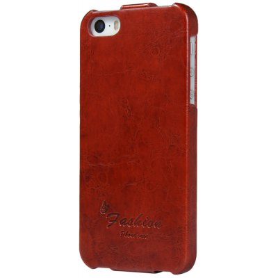 Vertiacal Flip Phone Protective Cover Case with PU Leather PC Material for iPhone 5