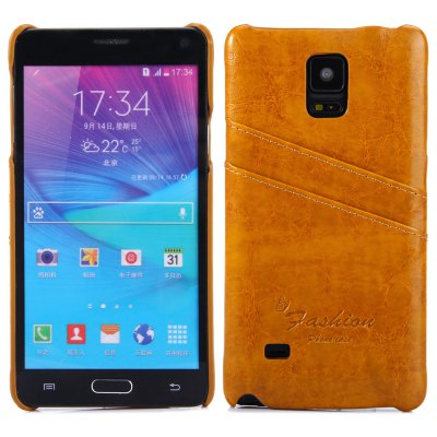 PU Back Cover Case for Samsung Galaxy Note 4 N9100