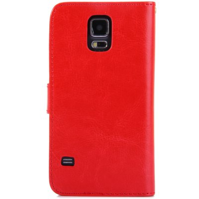 ФОТО Practical PU and PC Material Magnetic Snap Design Cover Case for Samsung Galaxy S5 i9600 SM - G900