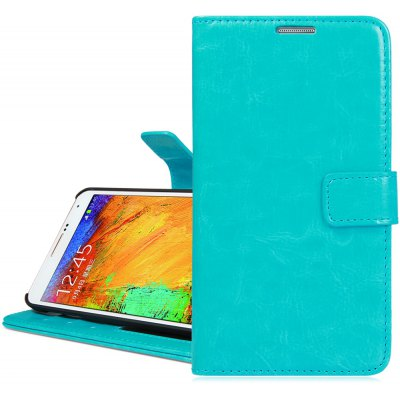 Crazy Horse Texture Design PU Leather Case with Photo Frame Card Slot Stand