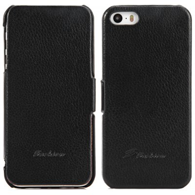 Litchi Pattern Style PU Material Protective Cover Case for iPhone 5 5S