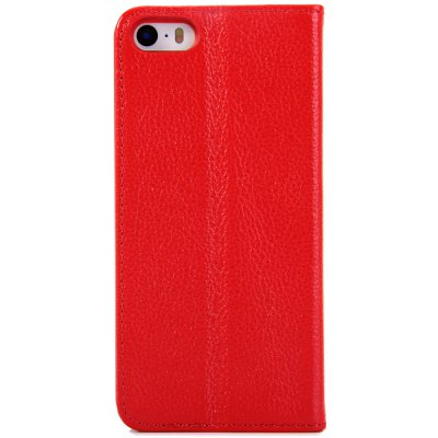 Litchi Pattern Style PU and PC Material Support Protective Cover Case for iPhone 5 5S