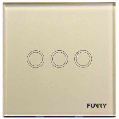 FUNRY Home Touch Remote Switch 3 Gang Intelligent Control Switch  -  EU Standard