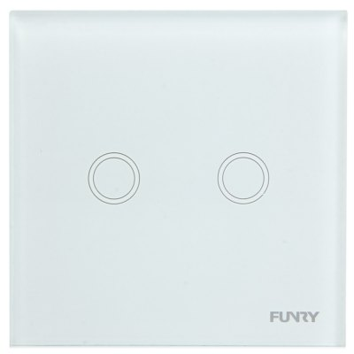 FUNRY Home Touch Remote Switch 2 Gang Intelligent Control Switch  -  UK Standard