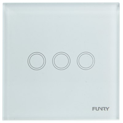 FUNRY Home Touch Remote Switch Three - gang Intelligent Control Switch  -  UK Standard