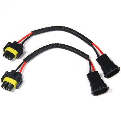 2pcs H8 H9 H11 Car Headlight Extension Connector Wiring Harness Socket Wire