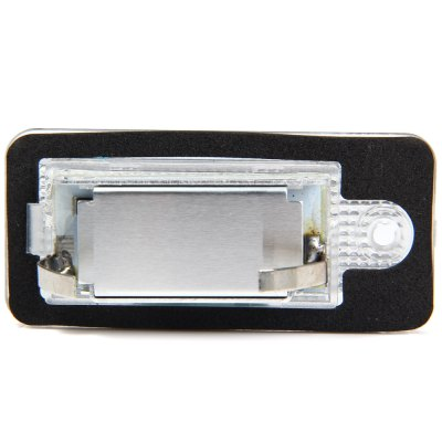 JHBK046 2pcs 12V Number License Plate Lamp with 18 LEDs for Audi A3 / S3 A4 / S4 B6  -  White LightCar Lights<br>JHBK046 2pcs 12V Number License Plate Lamp with 18 LEDs for Audi A3 / S3 A4 / S4 B6  -  White Light<br><br>Model  : JHBK046<br>Type   : License Plate Lights<br>LED type: SMD 3528<br>LED/Bulb quantity: 18<br>Feature: Easy to use<br>Emitting color : White<br>Voltage : 12V<br>Type of lamp-house : LED<br>Apply to car brand : Audi<br>Apply lamp position: External Lights<br>Product weight   : 0.043 kg<br>Package weight   : 0.12 kg<br>Product size (L x W x H)  : 7 x 3.2 x 1.5 cm / 2.75 x 1.26 x 0.59 inches<br>Package size (L x W x H)  : 11 x 6 x 4.7 cm / 4.32 x 2.36 x 1.85 inches<br>Package Contents: 2 x License Light