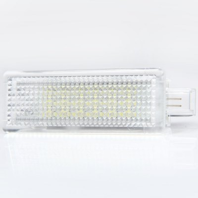 JHBK048 2pcs 12V SMD 3528 Courtesy Door Lamp with 18 LEDs for BMW E90 E660 E63  -  White LightCar Lights<br>JHBK048 2pcs 12V SMD 3528 Courtesy Door Lamp with 18 LEDs for BMW E90 E660 E63  -  White Light<br><br>Model  : JHBK048<br>Type   : Car Door Lights<br>LED type: SMD 3528<br>LED/Bulb quantity: 18<br>Feature: Easy to use<br>Emitting color : White<br>Voltage : 12V<br>Type of lamp-house : LED<br>Apply to car brand : BMW<br>Apply lamp position: External Lights<br>Product weight   : 0.033 kg<br>Package weight   : 0.11 kg<br>Product size (L x W x H)  : 7.4 x 2.5 x 1.5 cm / 2.91 x 0.98 x 0.59 inches<br>Package size (L x W x H)  : 10.8 x 6.4 x 4.5 cm / 4.24 x 2.52 x 1.77 inches<br>Package Contents: 2 x Car Door Light