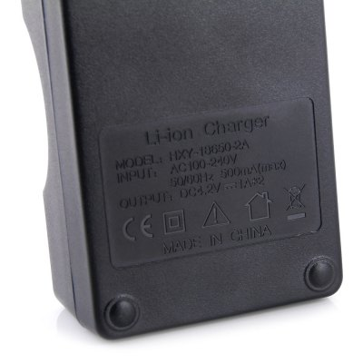 Фотография HESENY HXY18650  -  2A 1A 4.2V 2 Slots 18650 Li - ion Battery Charger - US Plug