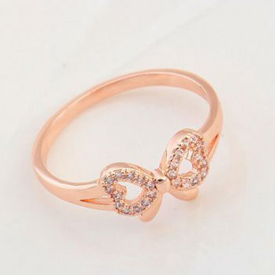 Simple Style Zircon Inlaid Bowknot Shape Ring For WomenRings<br>Simple Style Zircon Inlaid Bowknot Shape Ring For Women<br><br>Gender: For Women<br>Metal Type: Gold Plated<br>Style: Trendy<br>Shape/Pattern: Bows<br>Diameter: 1.8CM<br>Weight: 0.06KG<br>Package Contents: 1 x Ring