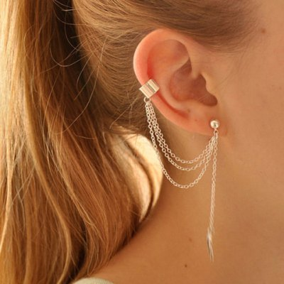 ONE PIECE Stylish Leaf Pendant Ear Cuff For WomenEarrings<br>ONE PIECE Stylish Leaf Pendant Ear Cuff For Women<br><br>Earring Type: Ear Cuff<br>Gender: For Women<br>Style: Trendy<br>Shape/Pattern: Plant<br>Weight: 0.05KG<br>Package Contents: 1 x Ear Cuff