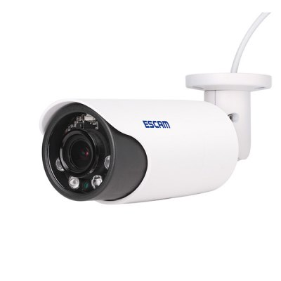 ESCAM HD3300V ProgressiveScan Vari - Focal 2.8 - 12mm Lens Bullet Network Camera Infrared H.264 Full HD 1080P Waterproof Support iPhone / iPad / Android Phone Remote Control