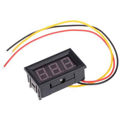 Red LED Mini Digital Voltmeter DC 0  -  99.9VOther Consumer Electronics<br>Red LED Mini Digital Voltmeter DC 0  -  99.9V<br><br>Color: Black<br>Product weight: 0.018 kg<br>Package weight: 0.068 kg<br>Package size (L x W x H): 4.80 x 2.90 x 2.90 cm / 1.89 x 1.14 x 1.14 inches<br>Package Contents: 1 x Mini Digital Voltmeter