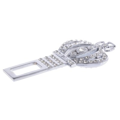Crown Style Metal Car Safety Seat Belt Buckle
