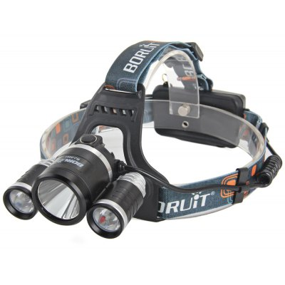 Boruit RJ - 3001 3 Cree XML T6 4000Lm 4 Modes LED Headlight