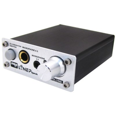 A907 Professional 2 - CH 3.5mm / 6.5mm Computer Microphone Audio Signal Amplifier for Karaoke Recording Hosting Reading