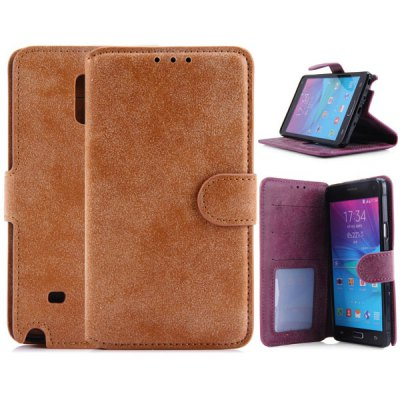 PU Leather and TPU Material Vintage Style Cover Case for Samsung Galaxy Note 4 N9100