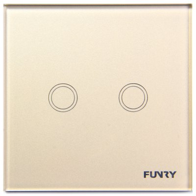 FUNRY Home Touch Switch 2 Gang 1 Way Intelligent Control Switch  -  EU Standard