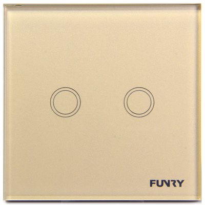 FUNRY Home Touch Remote Switch 2 Gang Intelligent Control Switch  -  EU Standard